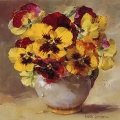 Pansies | Mill House Fine Art – Publishers of Anne Cotterill Flower Art