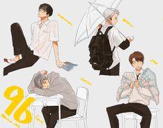 Seventeen 96 line Woozi, Wonwoo, Liz Clements, Kpop Drawings, Seventeen Wallpapers, Yellow Art, Memes, Cute Cartoon Wallpapers, Kpop Fanart