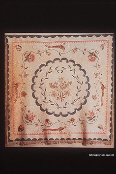 Chintz appliqued quilt Date: ca. 1800 Geography: Mid-Atlantic, Maryland, United States Culture: American Medium: Cotton and linen (?) appliqued Dimensions: 94 x 92 in. (238.8 x 233.7 cm) Classification: Textiles