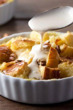 Grandma's Apple Bread Pudding with Vanilla Sauce Recipe
