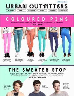 Urban Outfitters Colour email