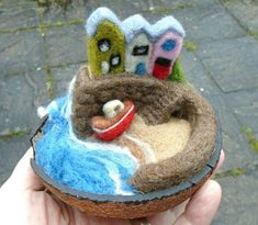 In a nutshell no.4 - needle felted - SShaw
