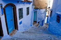 Magic Blue Back Streets .. Morocco