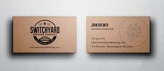 Elyse Myers Design - Indianapolis Graphic Design Switchyard Logo #brewerylogo #beer #beerlogo #logo #businesscard #businesscarddesign #kraft