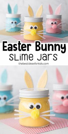 Easter Bunny Slime - such a fun slime recipe for Easter! A fun Easter activity for preschool or kindergarten. #bestideasforkids