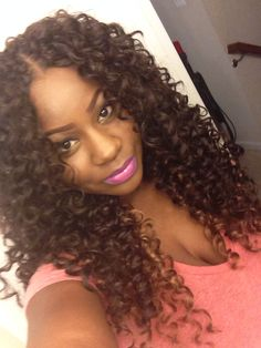 Gogo curl crochet hairstyles - Hairstyles for Women crochet styles with gogo curl hair - Crochet Hair Styles Crochet Braids Hairstyles, African Braids Hairstyles, Weave Hairstyles, Pretty Hairstyles, Hairdos, Freetress Gogo Curl, Freetress Crochet Braids, Curly Hair Styles, Natural Hair Styles