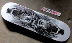 """Check out today's Featured Deck by James Walker, a design """"based on a photo I took of my Border Collie, Brenna."""" You can see more artwork by James at www.jameswalkerstudios.com or pick up this deck at www.BoardPusher.com/shop/JWStudios skate skateboard skateboarding sk8 art artist photography"""