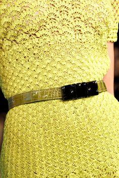 Closeup of Le' crochet-Oscar de la Renta