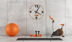 Concrete room with gym equipment photo by archideaphoto on Envato Elements