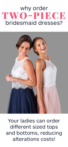 Two-Piece Bridesmaid Dresses Are Taking Over—For a Reason!