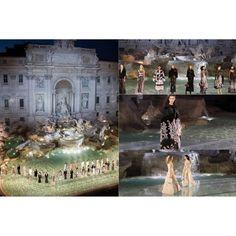 @fendi celebra su 90 aniversario con un asombroso desfile en la Fontana de Trevi presentando su nueva colección. www.imodae.com #FashionSchool  #iModae