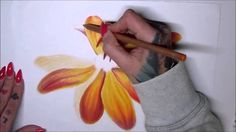 Tutorial-How to draw simple flower DIY=ZTS Realistic Flower Drawing, Simple Flower Drawing, Easy Flower Drawings, Beautiful Flower Drawings, Easy Drawings, Simple Rose, Simple Flowers, Diy Flowers, Colorful Flowers