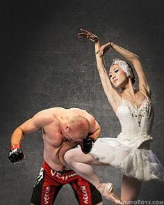 Bailarinas vs lutadores de UFC - http://desmorto.com/bailarinas-vs-lutadores-de-ufc/