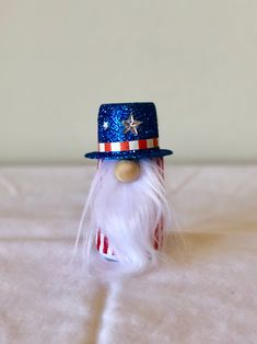 Items similar to Mini of July Gnome, Patriotic Gnome, Uncle Sam Gnome on Etsy July Crafts, Summer Crafts, Military Looks, Silver Stars, Gnomes, Hand Sewing, 4th Of July, Red And White, Christmas Crafts