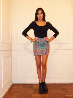#lookbook #AW #2014 #otoño #invierno #winter #LV #LasVaskas #moda #ropa #fashion #fashionista #mini #pollera #lurex #colores