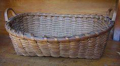 splint basket with 2 handles