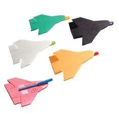Foam Flyers | Crafts | Spoonful--I'd make them mini-sized for swaps & add some cute tag about soaring to new heights with Girl Scouts or Girl Scouts are flying high or Girls are Exploring the Universe...