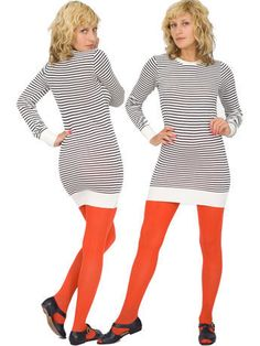 try neutral colors, blacks/whites/grays with bright colored stockings or shoes to add flare.