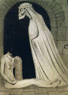 Mystic Violence of the Astral Flame Illustrations, Illustration Art, Alfred Kubin, Art Nouveau, Dark And Twisted, Arte Horror, Old Art, Black Art, Art Blog