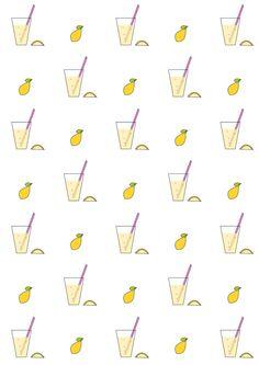 FREE printable lemonade pattern paper | #summerpaper #lemonadestand