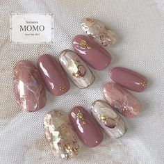 I made an order chip by leaving (任 せ (∀) I tremble too much. Thank you very much for your order # nail # nails # nailart # nailstagram # springnails # jelnails . Perfect Nails, Gorgeous Nails, Pretty Nails, Nail Art Rhinestones, Rhinestone Nails, Trendy Nails 2019, Japan Nail Art, Opal Nails, Asian Nails