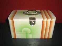 Seltene Deckeldose Spritzdekor ART Deco | eBay