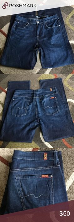 """Men's 7 for all mankind jeans🍂 Style is """"relaxed"""" 🍂. Material is 98% cotton 2% spandex🍂 inseam is 34"""" Anthropologie Jeans Relaxed"""
