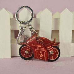 HOT!Free Shipping Unique Accessories home A variety of Cartoon Motorcycle model Genuine Leather Keychain wholesale 20pcs-in Leather Clothing...