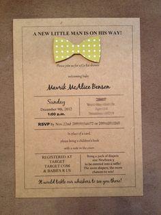 Little Man Party Invitations. $2.00, via Etsy.