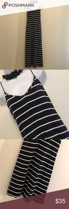 ⬇️Price Drop⬇️Tommy Hilfiger Spaghetti Maxi Dress Excellent Condition, Stretch, Adjustable Straps, Sports Bra Elastic Top, Loose Fit. Dresses Maxi