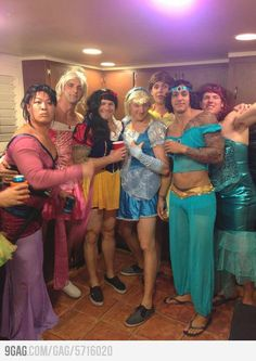 Guys as Disney princesses, God I wish I was at that party