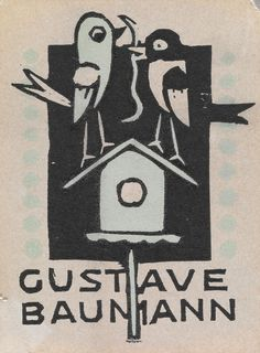 Ex libris by Gustave Baumann (German-born American artist, 1881-1971) for himself