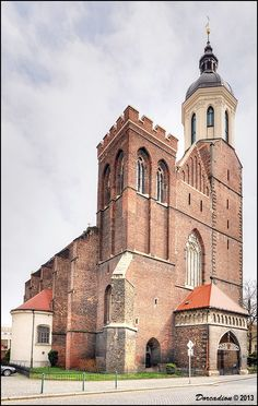 Gothic Co-cathedral of the Assumption of the Virgin Mary (Konkatedrála Nanebevzetí Panny Marie), the key landmark of the former capital of Opava' Duchy, is also the 2nd seat (co-cathedral) of the bishops of Ostrava-Opava Roman Catholic diocese. Silesia, Czechia.