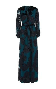 Jacquard Long Peasant Dress  by CO Now Available on Moda Operandi