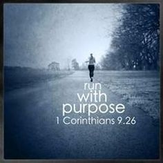 "Love this verse and the following: ""So I run with purpose in every step. I am not just shadowboxing. I discipline my body like an athlete, training it to do what it should."""