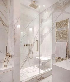 Absolutely Stunning Bathroom With Glass Walk In Shower Filled