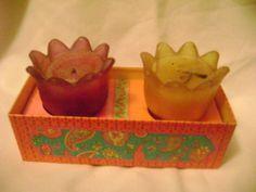 Avon Floral Medley Candles Tealight Perfumed Flower Shaped Holders Vintage | eBay