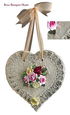 mosaic Rose Bouquet Heart - Cocci & Idee