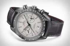 Like the Dark Side edition before it, the new Omega Speedmaster Grey Side of the Moon Watch draws its inspiration from man's exploration of the moon. It begins with a 44.25mm grey ceramic case that's cooked at an insane 20,000º...