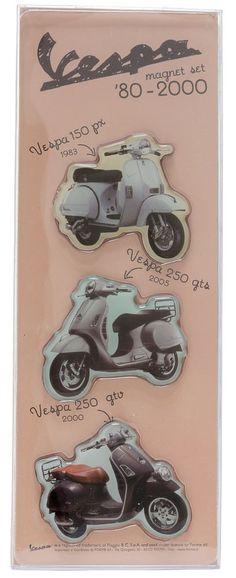VESPA 1980S MAGNET SET $15.00 #vespa #housewares #1980s #retro #vintage #magnets