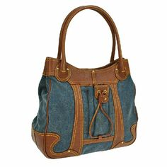 """Auth Vintage Macadam Pattern Hand Bag BBG5772 """"It is 100% Authentic Item - Previously Owned but Good Condition,Please Check all the Photos!  Material: Denim, Leather, Color : Blue, Brown ,some noticeable scratches and dirt  ,,Smell of material.  ,  No Trade."""" Celine Bags Shoulder Bags"""