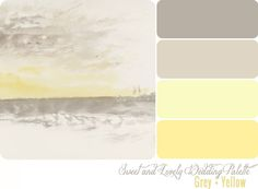 Grey and Yellow color palette from Sweet and Lovely Life