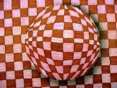 Lesson Plan: Op Art Spheres (the easy way)...great tutorial on how to achieve a cool 3D effect