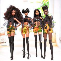 African Dolls, African American Dolls, Beautiful Barbie Dolls, Vintage Barbie Dolls, Barbie Style, Fashion Royalty Dolls, Fashion Dolls, Theme Carnaval, Manequin