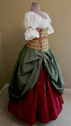 Bonnie Lass Ensemble - renaissance clothing, medieval, costume, color scheme for smooth?