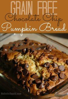 Grain Free Pumpkin Bread with Chocolate Chips - Holistic Squid
