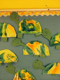 Desert tortoise children cut template and paint shell kindergarten crafts, preschool crafts, preschool ideas Kindergarten Crafts, Preschool Activities, Ocean Activities, Animal Pictures For Kids, Animals For Kids, Desert Animals, Wild Animals, Desert Crafts, Kids Zoo