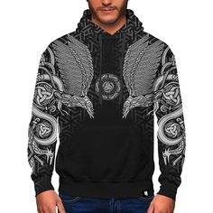 Viking Hoodie Premium zip-up hoodie hand made by skilled artisans with two-layer construction design, ideal for keeping you warm. The inner layer is made fr Skull Hoodie, Dog Hoodie, Unicorn Hoodie, Pink Skull, Skulls And Roses, Colorful Hoodies, Construction Design, Vikings, Organic Cotton