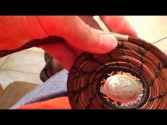 Pine needle coiling stitches - V and Fern stitches. - YouTube