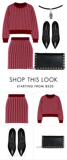 """""""Untitled #476"""" by claireyim ❤ liked on Polyvore featuring House of Holland, Yves Saint Laurent and Valentino"""